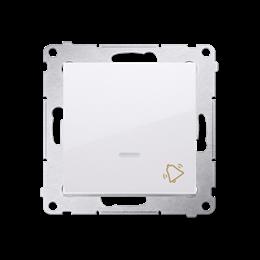 """Przycisk """"dzwonek"""" z podświetleniem LED (moduł) 10AX 250V, szybkozłącza, biały-252177"""