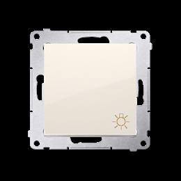 """Przycisk """"światło"""" (moduł) 10AX 250V, szybkozłącza, kremowy-252192"""