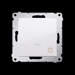 """Przycisk """"światło"""" z podświetleniem LED (moduł) 10AX 250V, szybkozłącza, biały-252202"""