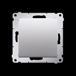 Przycisk pojedynczy zwierny bez piktogramu (moduł) 10AX 250V, szybkozłącza, srebrny mat, metalizowany-252143