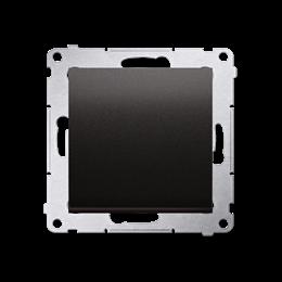 Przycisk pojedynczy zwierny bez piktogramu (moduł) 10AX 250V, szybkozłącza, antracyt, metalizowany-252145