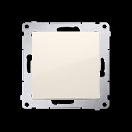 Przycisk pojedynczy zwierny bez piktogramu (moduł) 16AX 250V, zaciski śrubowe, kremowy-252148