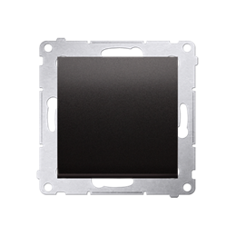 Przycisk pojedynczy zwierny bez piktogramu (moduł) 16AX 250V, zaciski śrubowe, antracyt, metalizowany-252151