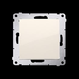 Przycisk pojedynczy rozwierny bez piktogramu bez piktogramu (moduł) 10AX 250V, szybkozłącza, kremowy-252185