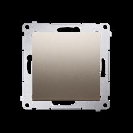 Przycisk pojedynczy rozwierny bez piktogramu bez piktogramu (moduł) 10AX 250V, szybkozłącza, złoty mat, metalizowany-252187