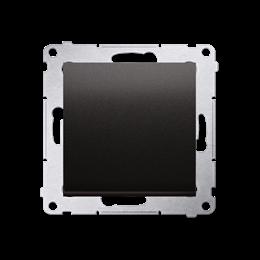 Przycisk pojedynczy rozwierny bez piktogramu bez piktogramu (moduł) 10AX 250V, szybkozłącza, antracyt, metalizowany-252188