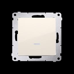 Przycisk pojedynczy zwierny bez piktogramu z podświetleniem LED (moduł) 16AX 250V, zaciski śrubowe, kremowy-252160