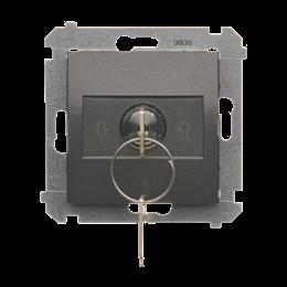 """Łącznik na kluczyk żaluzjowy 3 pozycyjny """"I-0-II"""" antracyt, metalizowany 5A-252612"""