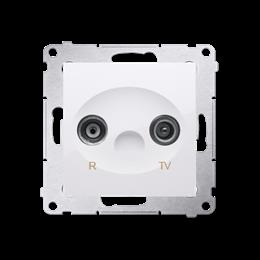 Gniazdo antenowe R-TV końcowe separowane tłum.:1dB biały-252864