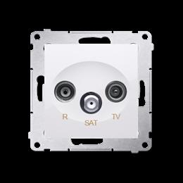 Gniazdo antenowe R-TV-SAT przelotowe tłum.:10dB biały-252939