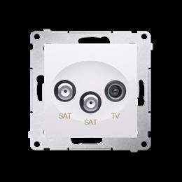 Gniazdo antenowe SAT-SAT-RTV satelitarne podwójne tłum.:1dB biały-252945