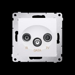 Gniazdo antenowe R-TV-DATA tłum.:10dB biały-252951