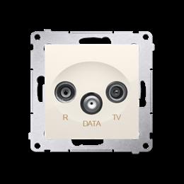 Gniazdo antenowe R-TV-DATA tłum.:10dB kremowy-252952