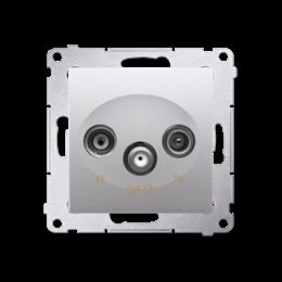 Gniazdo antenowe R-TV-DATA tłum.:10dB srebrny mat, metalizowany-252953