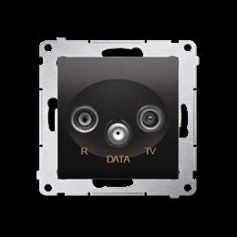 Gniazdo antenowe R-TV-DATA tłum.:10dB antracyt, metalizowany-252955