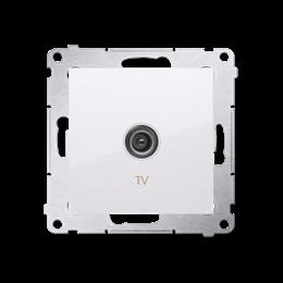 Gniazdo antenowe TV pojedyncze końcowe biały-252963