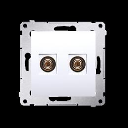 Gniazdo głośnikowe pojedyncze biały-253005