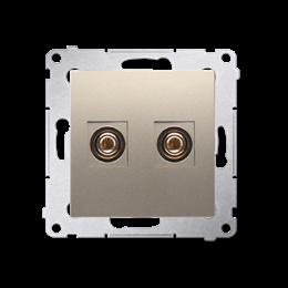Gniazdo głośnikowe pojedyncze złoty mat, metalizowany-253008