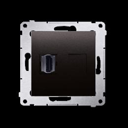 Gniazdo HDMI pojedyncze antracyt, metalizowany-253024