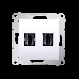 Gniazdo HDMI podwójne biały-253026