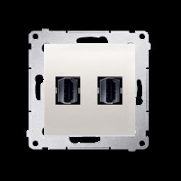 Gniazdo HDMI podwójne kremowy-253027