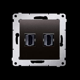Gniazdo HDMI podwójne antracyt, metalizowany-253030