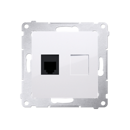 Gniazdo telefoniczne pojedyncze RJ12 (moduł) biały-253040