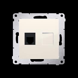 Gniazdo telefoniczne pojedyncze RJ12 (moduł) kremowy-253041
