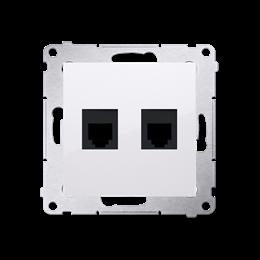 Gniazdo telefoniczne podwójne RJ12 (moduł) biały-253046