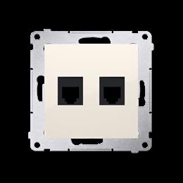 Gniazdo telefoniczne podwójne RJ12 (moduł) kremowy-253047