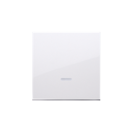 Klawisz pojedynczy z oczkiem do łączników i przycisków podświetlanych biały-251964