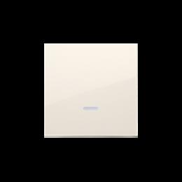 Klawisz pojedynczy z oczkiem do łączników i przycisków podświetlanych kremowy-251966
