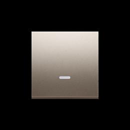 Klawisz pojedynczy z oczkiem do łączników i przycisków podświetlanych złoty mat, metalizowany-251968