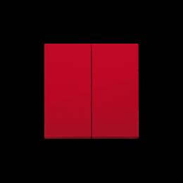 Klawisz podwójny do łączników i przycisków czerwony-251984