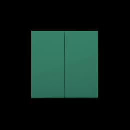 Klawisz podwójny do łączników i przycisków zielony-251986