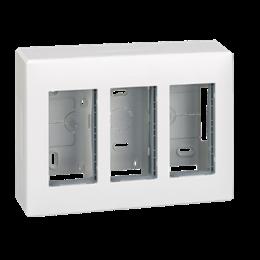 Obudowa natynkowa SIMON 500 3×S500 6×K45 czysta biel-255789