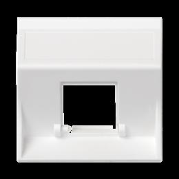 Plakietka teleinformatyczna SIMON 500 do adapterów MD pojedyncza bez osłon skośna 50×50mm czysta biel-256463