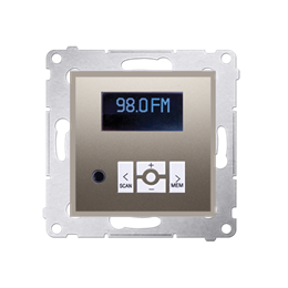 Radio cyfrowe z wyświetlaczem złoty mat, metalizowany-252777