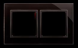 Ramka 2- krotna szklana zastygła lawa-251485