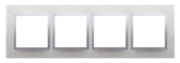 Ramka 4- krotna metalowa inox klasyczny-251530