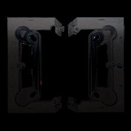 Puszka natynkowa składana, pojedyncza antracyt, metalizowany-251667
