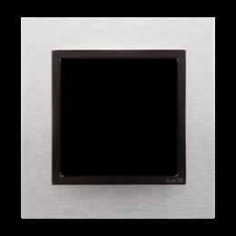 Ramka 1- krotna metalowa inox yang-251467