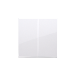 Klawisz podwójny do łączników i przycisków biały-251971