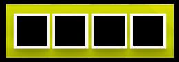 Ramka 4- krotna szklana limonkowy sorbet-251523
