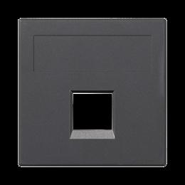 Plakietka teleinformatyczna SIMON 500 keystone pojedyncza bez osłon płaska uniwersalna 50×50mm szary grafit-256390