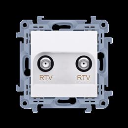 Gniazdo antenowe RTV-RTV końcowe biały-254480