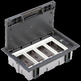 Puszka podłogowa SF prostokątna 8×K45 4×S500 70mm÷105mm szary-255941