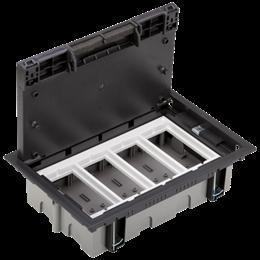 Puszka podłogowa SF prostokątna 8×K45 4×S500 70mm÷105mm szary grafit-255942