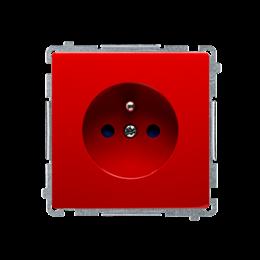 Gniazdo wtyczkowe pojedyncze z uziemieniem z przesłonami torów prądowych czerwony 16A-253799