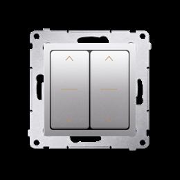 Łącznik żaluzjowy podwójny trójpozycyjny (1-0-2) srebrny mat, metalizowany 10A-252605